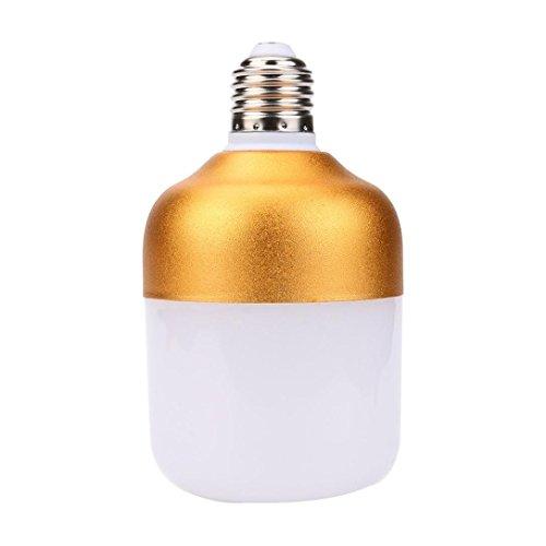 LiPing Waterproof, Dustproof High Efficiency Energy Save LED Light Bulb: AC220V, 12W 15W 20W 30W 40W 50W 60W, E27 Base, Cool White,Aluminum Golden (I ()