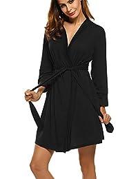 Women Kimono Robes Cotton Lightweight Robe Short Knit Bathrobe Soft Sleepwear Ladies Loungewear S-XXL