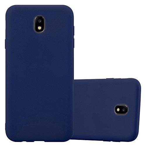 Cadorabo - Cubierta protectora para >                          Samsung Galaxy J7 (7) - Modelo 2017                          < de silicona TPU en diseño Candy �?Case Cover Funda Carcasa Protección en AZUL-OSCURO-CANDY AZUL-OSCURO-CANDY