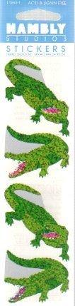 Crocodiles Sparkle Scrapbook Stickers (P7093) -