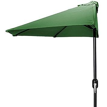 9 de la mitad del Patio paraguas, verde