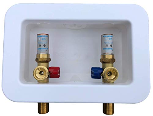 """Washing Machine Outlet Box with Hammer 1/2"""" NPT x 3/4"""" MHT for CPVC"""