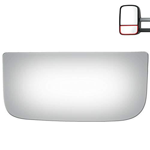 WLLW Mirror Glass for C/K Pickup,Tahoe,Silverado,Sierra,Yukon,Avalanche,Escalade Driver Side (Lower Convex)