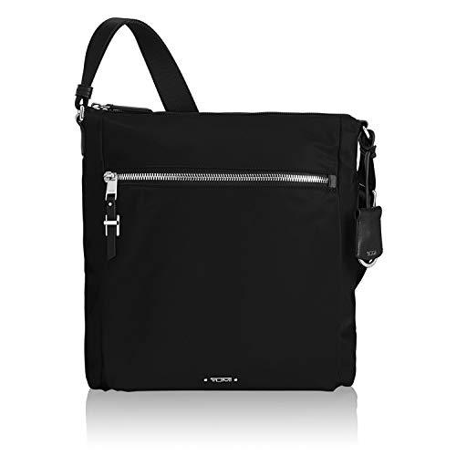 TUMI - Voyageur Canton Crossbody Bag - Over Shoulder Satchel for Women - Black/Silver (Tumi Voyageur Capri Crossbody Black One Size)