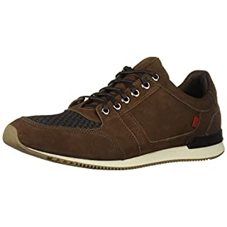 Marc Joseph New York Men's Genuine Leather Made in Brazil Luxury Fashion Trainer Sneaker, Cafe Nubuck, 12 M US