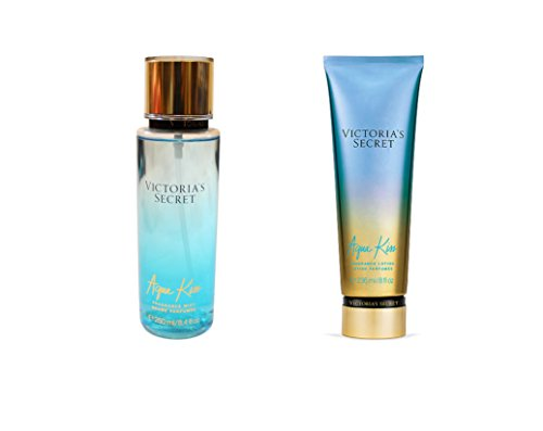 Victoria Secret New 2015 Aqua Kiss Fragrance Mist and Lotion Set by Victoria's Secret