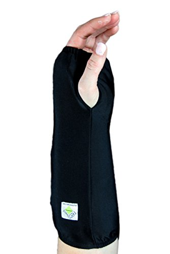 My Recovers Arm Cast Cover Protector, Fashion Cast Cover in Black for Short Arm Cast or Medical Wrist Brace, Made in USA, Orthopedic Products Accessories (Small)