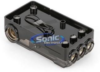 Xscorpion DMANL3034P Digital Platinum Mini ANL Distribution Block w// Three 0//2//4 Ga Ins /& Three 4//8 Ga Outs w// Adapters
