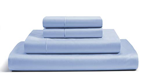 Chateau Home Collection 800 Thread Count Egyptian Cotton Deep Pocket Sateen Weave Sheet Set Ultimate Gift Holiday Sale Split King Blue