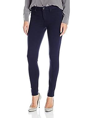 Calvin Klein Jeans Women's 5 Pocket Ponte Legging,Classic Navy,12
