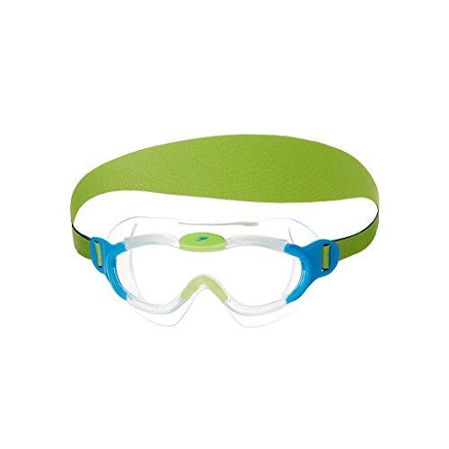 Speedo Unisex - Kinder Schwimmbrille Junior Sea Squad, clear/bue, one size, 8-087638029