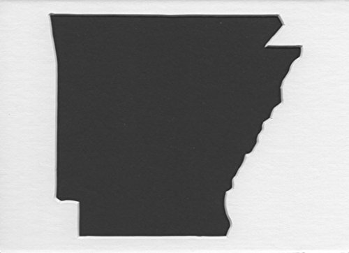3 Pack of Square Arkansas State Stencils Made from 4 Ply Mat Board 12x12, 8x8, 6x6 - Arkansas Square