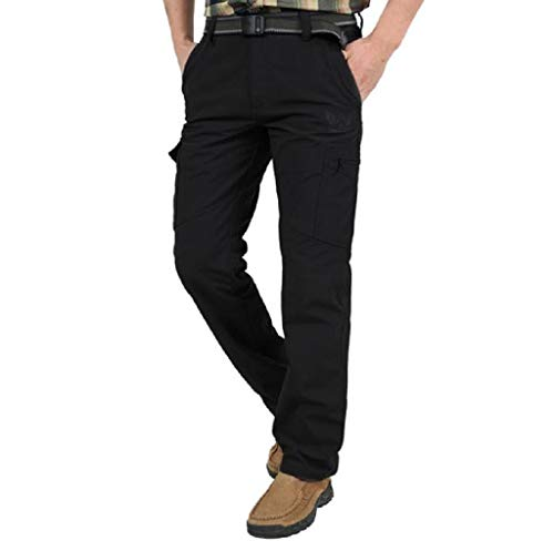 Wobuoke Fashion Men's Outdoors Quick-Drying Pants Casual Breathable Pants Comfortable Trousers