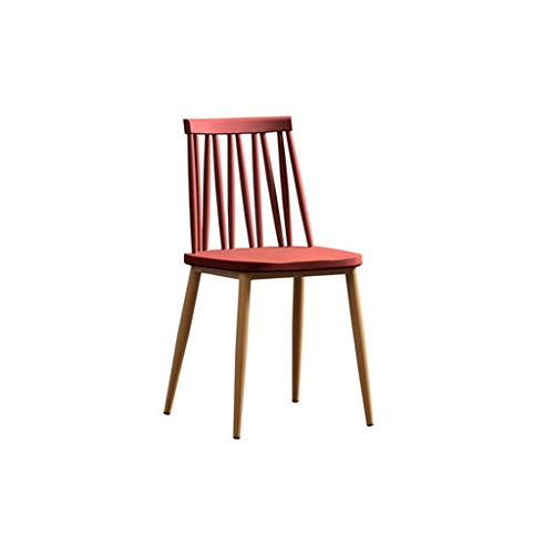 YJWOZ Lazy Home Plastic Backrest Stool Leisure Desk Windsor Chair 42×42.5×82.5cm Chair (Color : E) ()