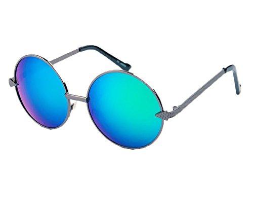 metal clásico la gafas vendimia Verde marco La las flecha de Hippie redondo Color la Pistola de sol polarizado del de de Marco clásico de del no de UCwXqfnx5