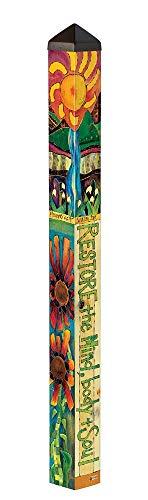 Studio M Garden Art Pole Fade-Resistent Outdoor Décor, 4-Feet Tall, Healing