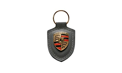 porsche-grey-crest-key-tag-ring