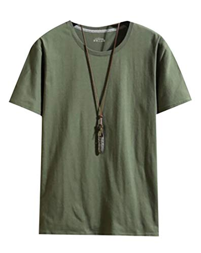 M&S&W Mens Hipster Hip Hop Basic Elong Plus Size T-Shirt ArmyGreen XL ()