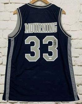 release date: bf233 cb8dc Alonzo Mourning Signed Autographed Georgetown Hoyas ...