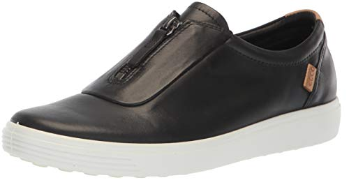 ECCO Women's Soft 7 Zip II Sneaker, Black, 39 M EU (8-8.5 US) (Ecco Shoes Womens Athletic)