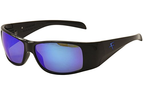 Fatheadz Eyewear Men's Power Trip V2.0 FH-V121-1BL Polarized Wrap Sunglasses, Black, 67 - V.1 Sunglasses
