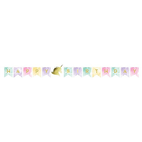 Lovely Creative Converting Unicorn Birthday Party Ultimate Bundle Serves 16 Guests Happy Banner