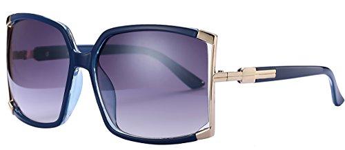 Newest Design Women's sunglasses UV Protection Oversized Square Sunglasses (Blue, As - Blue Sunglasses Square