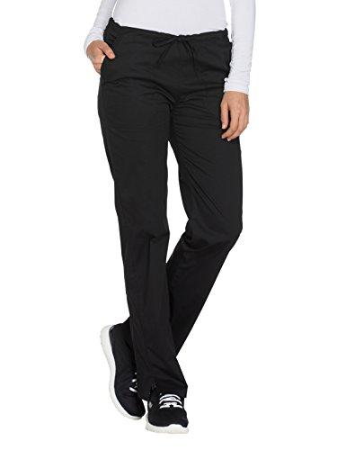 Cherokee (Cherokee Workwear Core Stretch Women's Drawstring Cargo Scrub Pant Large Black)