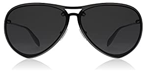 Alexander McQueen AM0102S 001 Ruthenium AM0102S Aviator Sunglasses Lens Categor