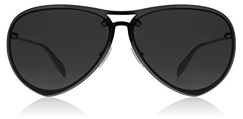 Alexander McQueen AM0102S 001 Ruthenium AM0102S Aviator Sunglasses Lens - Mcqueen Aviators Alexander