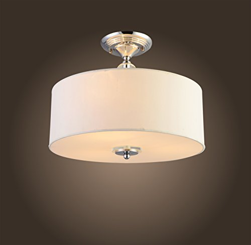 Saint Mossi Luxury Modern Chandelier Fabric Lampshade Ceiling