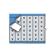 Brady AF-V-PK Aluminum Foil Tape Black on Silver Solid Letters Wire Marker Card 25 Cards B-184
