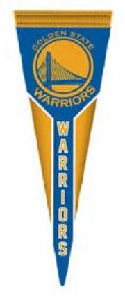 (Golden State Warriors FATHEAD Team Pennant Logo Official NBA Peel and Stick Re-Usable Vinyl Wall Graphic 21