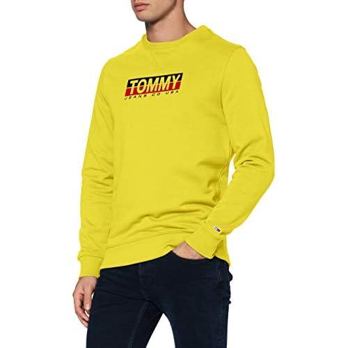 chollos oferta descuentos barato Tommy Hilfiger TJM Essential Split Box Crew Suter Amarillo Valle M para Hombre