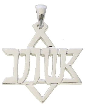 Messianic Jewish Hebrew Yeshua (Jesus) in the shape of the Star of David Pendant Necklace