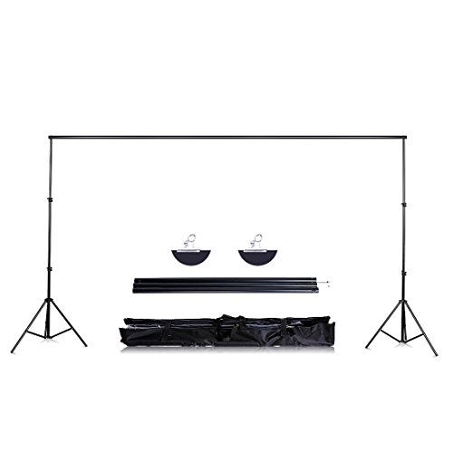 2MX2M/6.5FTX6.5Ft Heavy Duty Adjustable Background Support System Stand with 2pcs Clamps and Carry Bag for Photography Booth - Set Booth Up Photo