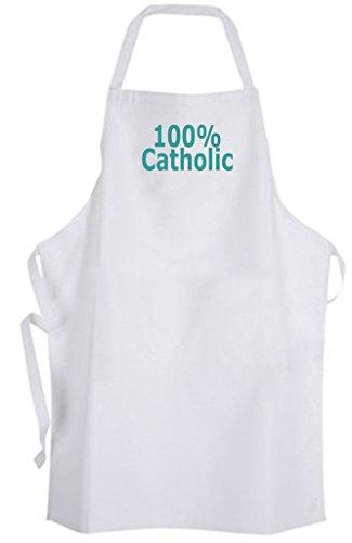 100% Catholic – Adult Size Apron by Aprons365