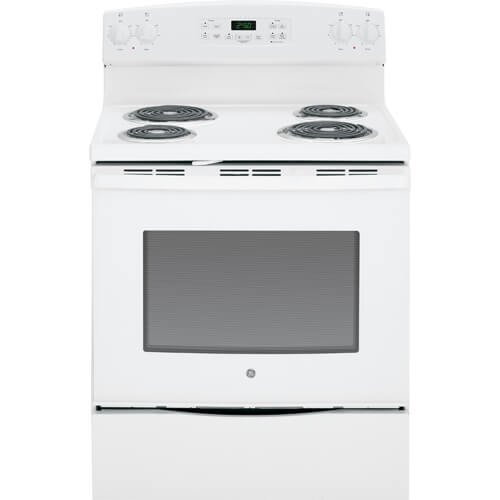 GE JB250DFWW 30″ White Electric Coil Range