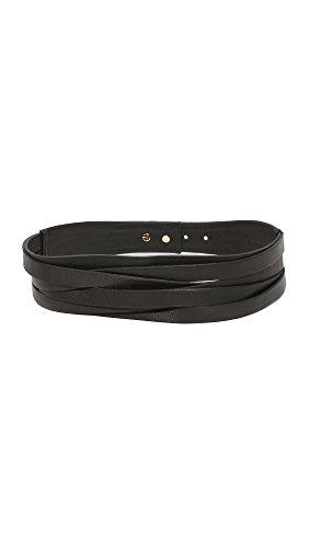 B-Low The Belt Women's Nikki Belt, Black/Gold, Large by B-Low the Belt