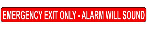(ComplianceSigns Vinyl Exit Emergency / Fire Label, 24 x 2 in. with English,)