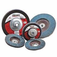Carborundum 05539570540 Premier Zirconia Alumina Type 29 Fat Boy Flap Discs,4 1/2', 60 Grit, 5/8 Arbor, Red 4 1/2 481-05539570540