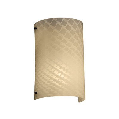 """Justice Design Group FSN-5542W-DROP-MBLK Fusion 8"""" Finials 1 Light Wall Sconce"""