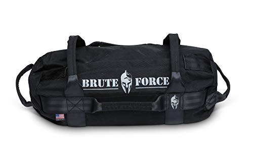 Bag Mini Grip (Brute Force Sandbags - Mini Sandbag - Black - Heavy Duty Sandbag Crossfit Workout Equipment Weighted Bags Heavy Sand Bags Military sandbags)