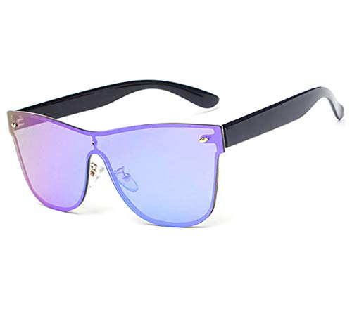 GAMT Rimless Sunglasses Futuristic Shield Mirrored Design (Green) (Design Eyewear)