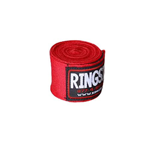 Ringside Mexican-Style Boxing Handwrap, Red, 180-Inch