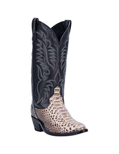 (Laredo Western Boots Mens Key West Python Round Toe 11 D Natural 6751)