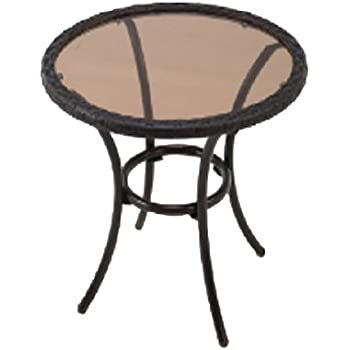 Amazon Com Outdoor Side Table Black Steel Small Round