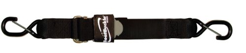 BoatBuckle Pro Series Kwik-Lok Gunwale Tie-Down (2-Inch x 13-Feet, Black)