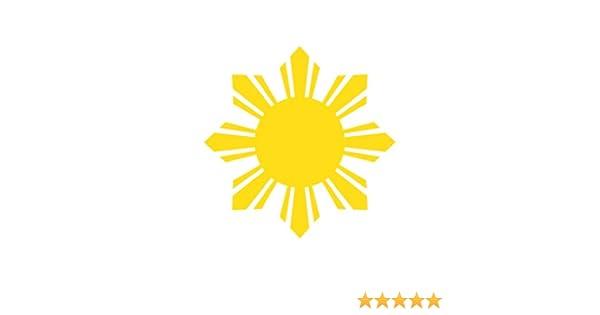 Philippines Sun Sticker Die Cut Decal Self Adhesive Vinyl #2 stars filipino 2x