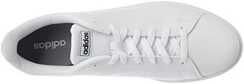 adidas Advantage Base, Scarpa da Calcio Uomo, Ftwbla/Ftwbla/Azutra, 32 EU